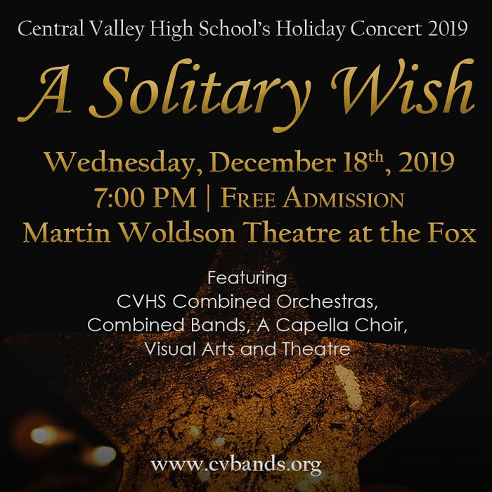 Central Valley High School Holiday Concert 2019 - A Solitary Wish